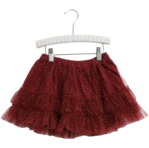 Wheat Tulle Sille <br> Burgundy