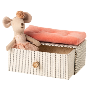 Maileg Little Sister Mouse <br> Dancer in Daybed