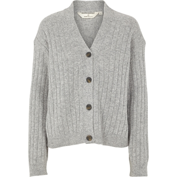 Basic Apparel Line Cardigan <br> Light Grey Melange