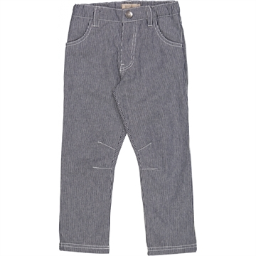 Wheat Trousers Edvard <br> Stripe Navy