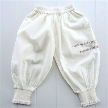2775B Tina Wodstrup Baggy Pants w. embr.Off White