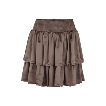 3487K Tina Wodstrup Frill Skirt Warm Grey