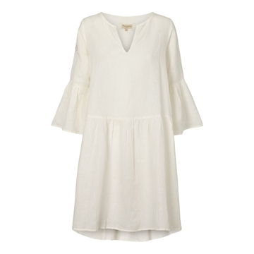 Tina Wodstrup Linen Dress <br> Off White