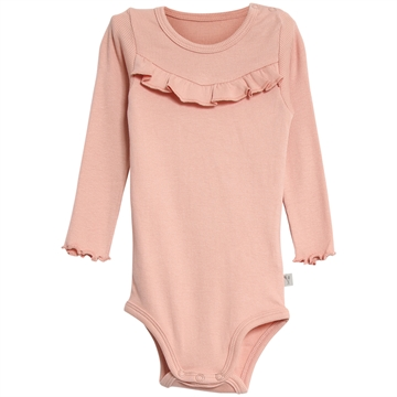 Wheat Body Rib Ruffle <br> Misty Rose