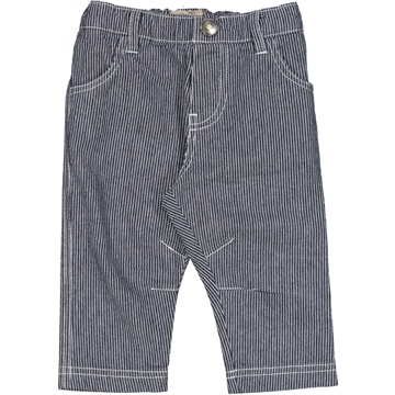 Wheat Trousers Edvard Baby <br> Stripe Navy