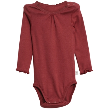 Wheat Body Rib Lace <br> Burgundy