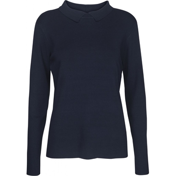 MI2654 Minus Jill Polo Knit Black Iris
